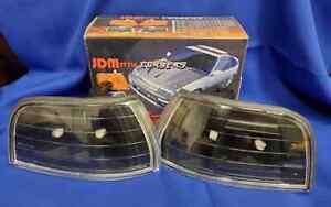 92-93 HONDA ACCORD 2DR / 4DR BLACK CORNER MARKER EURO LIGHTS JDM LAMPS NEW PAIR