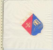 Serviette en papier du MESS sérigraphiée de la CRS 56 Montpellier