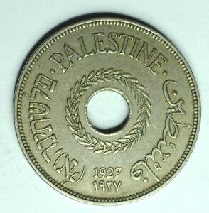 1927 PALESTINE 20 MILS FIRST YRAR ISSUE RARE COIN