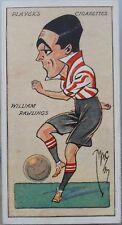 Single: WILLIAM RAWLING No.28 FOOTBALL CARICATURES by MAC - John Player Pub 1927