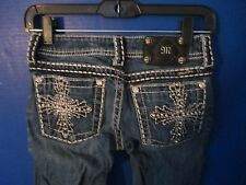 MISS ME~Boot Cut Denim Embellished Blue JEANS~Womens 25 x 33~JP5072UL