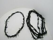 5 Leather barbed wire necklaces..... antique black colored...., 0575  bracelet..