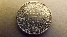 INDIA BRITISH RUPEE 1862 7 DOT NICE GRADE