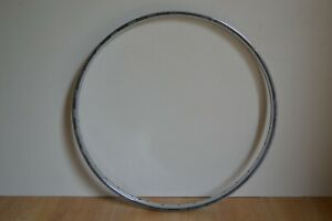 "Vintage 1970's Chromed Steel 24"" x 1 3/8"" Wheel Rim 36 Holes 540 x 20"