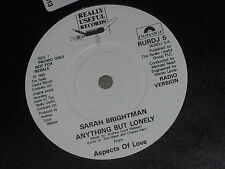 "Sarah Brightman: Anything but lonely -Aspects of love PROMO  7"" UNPLAYED EX SHOP"