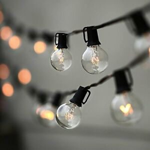 String Lights Lampat 25Ft G40 Globe String Lights with Bulbs-UL Listd for Ind...