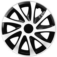 4 Radkappen Radzierblenden 14 Zoll Draco CS schwarz weiß black white