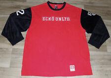 VTG Ecko UNLTD 72 Jersey Football Hockey VELOR Sleeves HIP HOP STREET WEAR XXXL