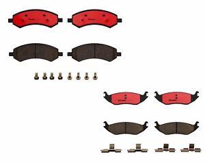 Brembo Front & Rear Brake Pad Set Kit for Chrysler Aspen Dodge Ram 1500 Durango