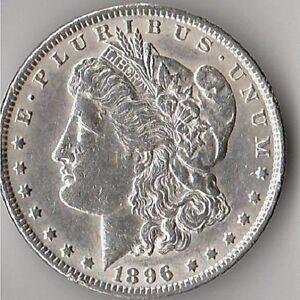 1896 -P- PHILADELPHIA MORGAN SILVER DOLLAR NICE! FREE SHIPPING!!