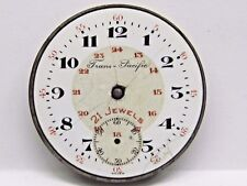 Antique No Name  Pocket Watch Movement. 39 mm in size. 24 HR porcelain dial