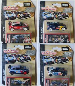 WRC DELUXE Majorette Polo Huyndai i20 Fiesta CitroenC3 DieCast Metal 1:71 - 1:54
