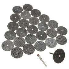 Durable 25pcs 32mm Resin Cutting Wheel Cut-off Discs+1pc Mandrel for Rotary Tool