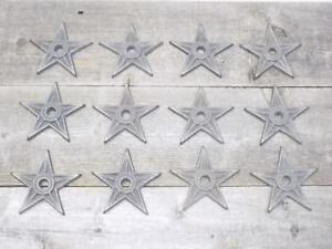 """12 Cast Iron Stars Washer Texas Lone Star Ranch 3 7/8"""" Large Primitive Raw Craft"""