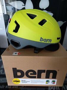 Cycling Helmet Bern Hudson MIPS Acid Yellow Size M 55.5-59cm