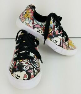 Disney Parks MICKEY MOUSE DONALD PLUTO Comic Print Children Shoes 13/1