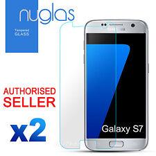 2x GENUINE NUGLAS Samsung Galaxy S7 Premium Tempered Glass Screen Protector