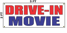 Drive In Movie Banner Sign NEW 2x5