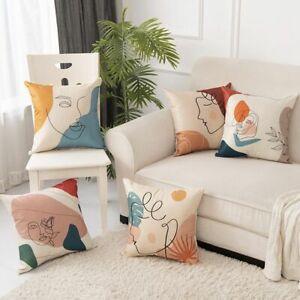 45x45cm Cushion Cover Pillow Creative Abstract Art streak Face Pillowcase Sofa