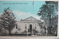 Curteich Chicago C.T. Colortone 1939 Blue Sky Court House Mt. Vernon Postcard