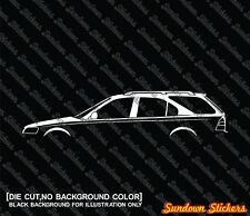 Details about  2X Car silhouette stickers - for Honda Civic Aerodeck wagon VTi