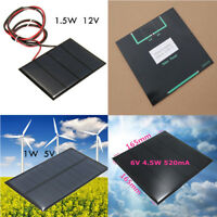 Useful Solar Panel Small Cell Module Charger New 1W 5V, 1.5W 12V, 4.5W 6V New