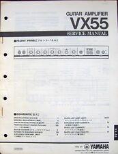 Original Yamaha VX55 Guitar Amplifier Service Manual Schematics Parts List Book