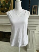 Monrow White Distressed Tank Top/ Muscle Top - Size X-Small