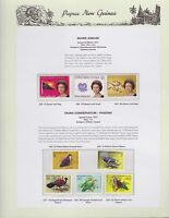 1977 PNG PAPUA NEW GUINEA Silver Jubilee Fauna Pigeons STAMP SET K-442