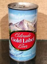 Stunning Lighter Blue Colorado Gold Label Pull Tab Top Beer Can Walter Pueblo