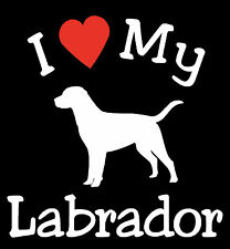 Pair of I Love My Dog LABRADOR Pet Car Decals Stickers Ready to Apply