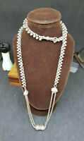 ANTIQUE BEAUTIFUL 1900'S SOLID SILVER POCKET WATCH CHAIN