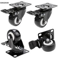 4 Stück/Set Transportrollen Lenkrollen Schwerlastrollen Rolle Rad mit Bremse