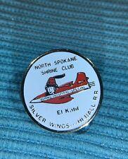 North Spokane Shrine Club Pin El Katif Silver Wings HI Ball R.R.