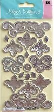 SILVER THANKFUL CHARMS Jolee's Boutique 3-D Stickers Ornate Flourishes