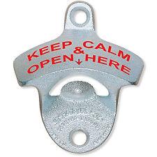 Wall Mount Bottle Opener (Keep Calm & Open Here)