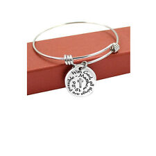 """Sexy Sparkles """"With God all Things Are Possible"""" Expandable Wire Bangle Bracelet"""