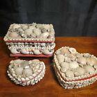 Vtg Seashell Tricket Box Lot