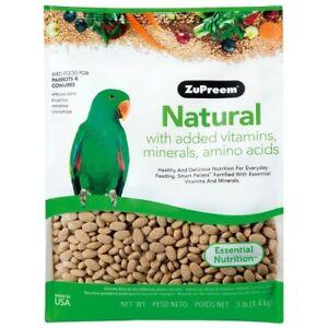 ZUPREEM NATURAL COMPLETE FOOD MED/LARGE FOR CONURES/AMAZONS/GREYS - 1.4KG (3LB)