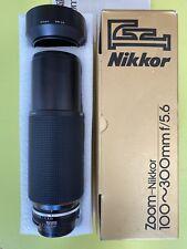 Objectif Télé-Zoom NIKON AI-S Nikkor 100-300mm f/5,6  Dans sa boîte d'origine