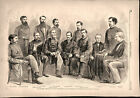 Civil War Military Commission Engaged in post war trial 1865 historical print