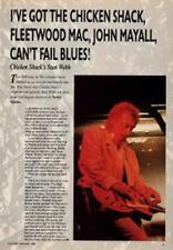 Chicken Shack Stan Webb UK Guitarist Interview Clipping