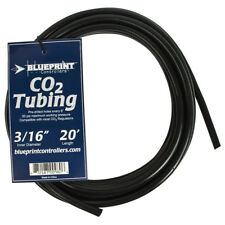 "Blueprint Controllers Black CO2 Proof Tubing 3/16"", 20' feet for Co2 Regulator"