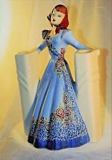 """~ 1940s WEIL WARE CALIFORNIA FIGURINES LADY Double VASE Original TAG 10 -11"""" ~"""