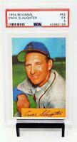 1954 Bowman HOF Cardinals ENOS SLAUGHTER Vintage Baseball Card PSA 5 EXCELLENT