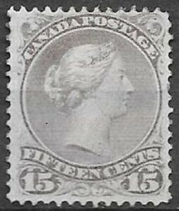 Canada 1868 15c gray violet Large Queen Scott 29 mint with gum see scans