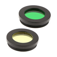 "Telescope Filter Set Green Yellow Color for Astronomy Moon Planet 1.25"" 2x"