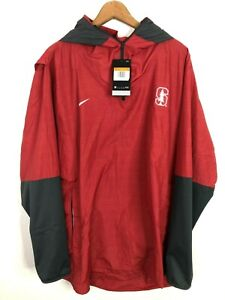 Nike XXL Jacket Stanford Cardinal Pullover Hooded 1/4 Zip Football Mens New $100