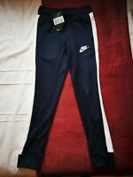 boys Nike air garcon tracksuit bottoms BNWT blue with white stripes