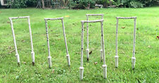 Antique Victorian Davidson Cast Iron Croquet Hoops